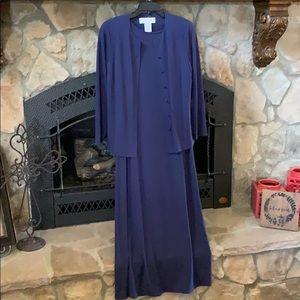 Jones New York Full Length Dress and Jacket